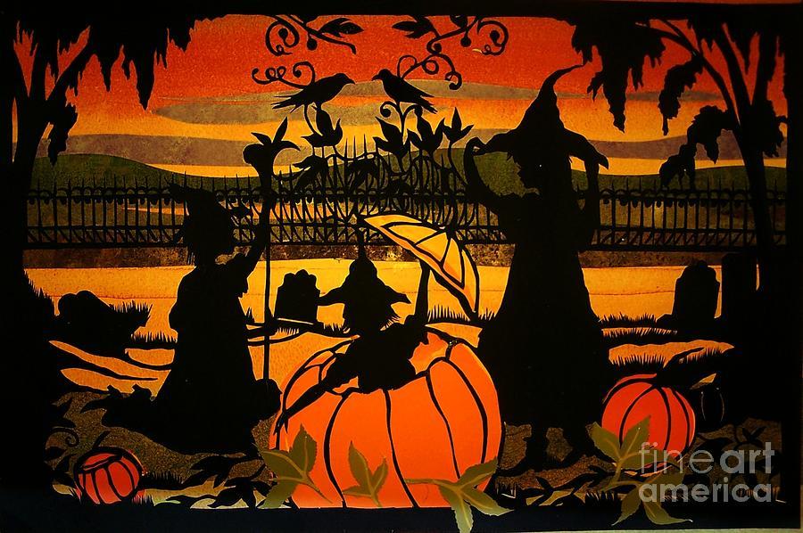 Drawing - Pumpkin Surprise by Nancy Michalak