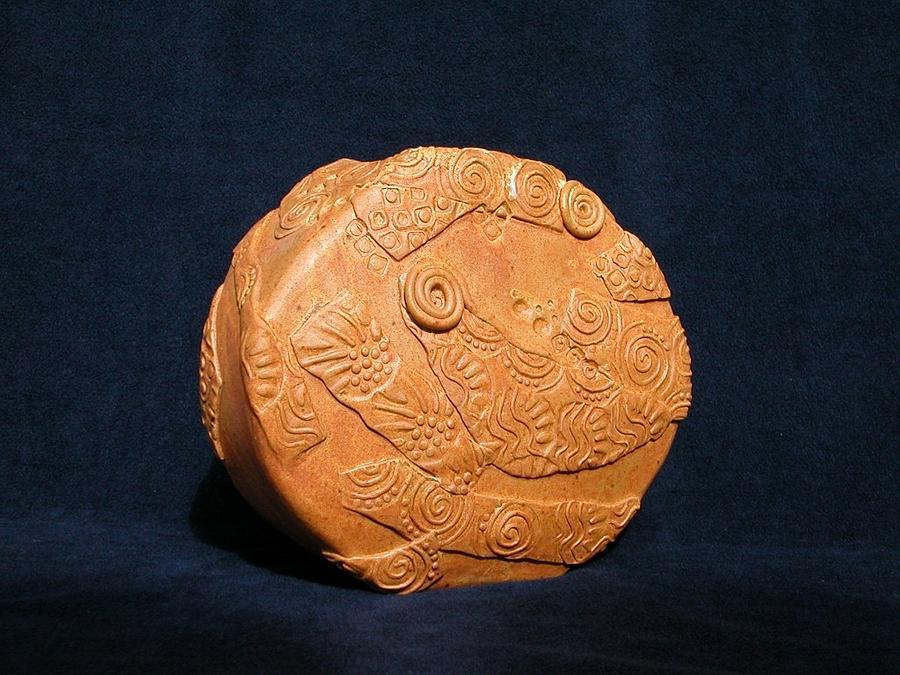 Vase Ceramic Art - Pumpkin Vase by Vicky DeLong