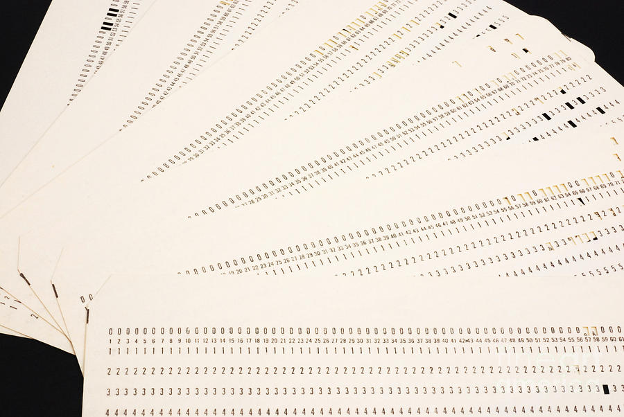 Punch Cards Photograph  - Punch Cards Fine Art Print