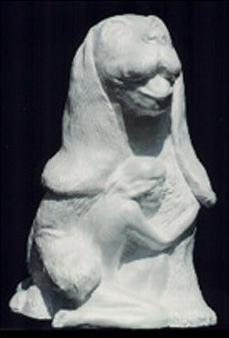 Puppy And Girl Pet Sculpture