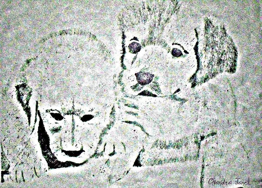 Puppy Love Digital Art