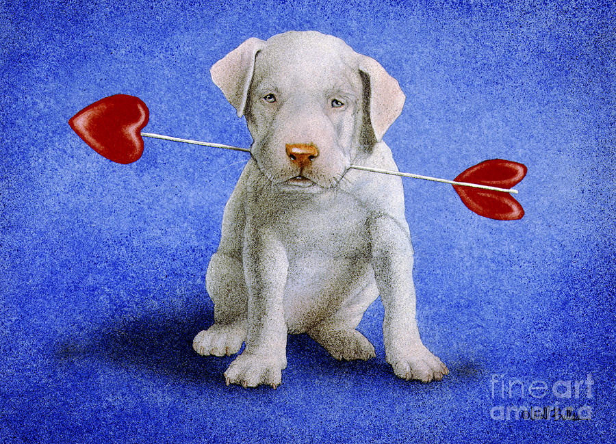 Puppy Lover... Painting  - Puppy Lover... Fine Art Print