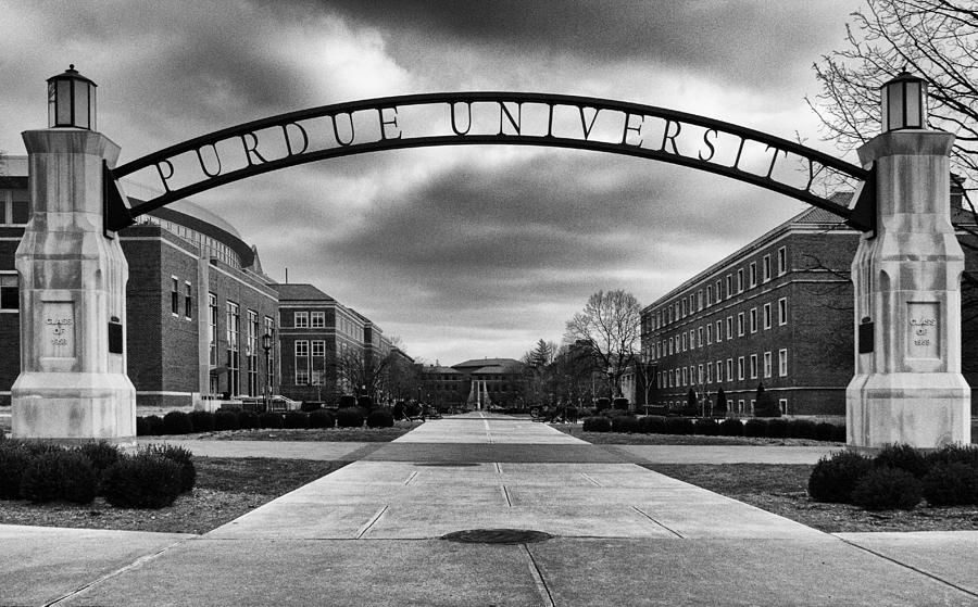 Purdue Entrance Sign Photograph
