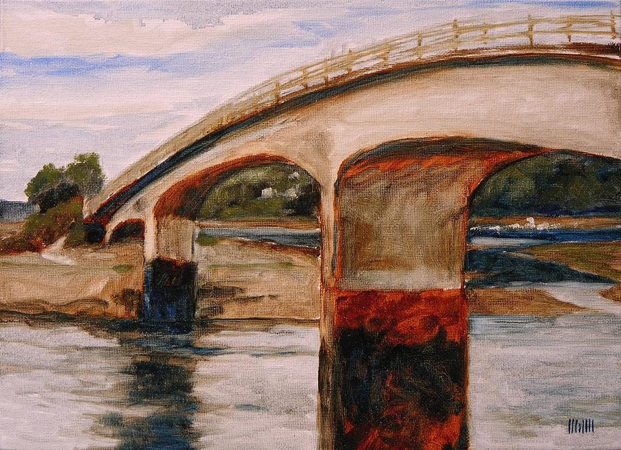 Purdy Bridge At Low Tide Painting  - Purdy Bridge At Low Tide Fine Art Print