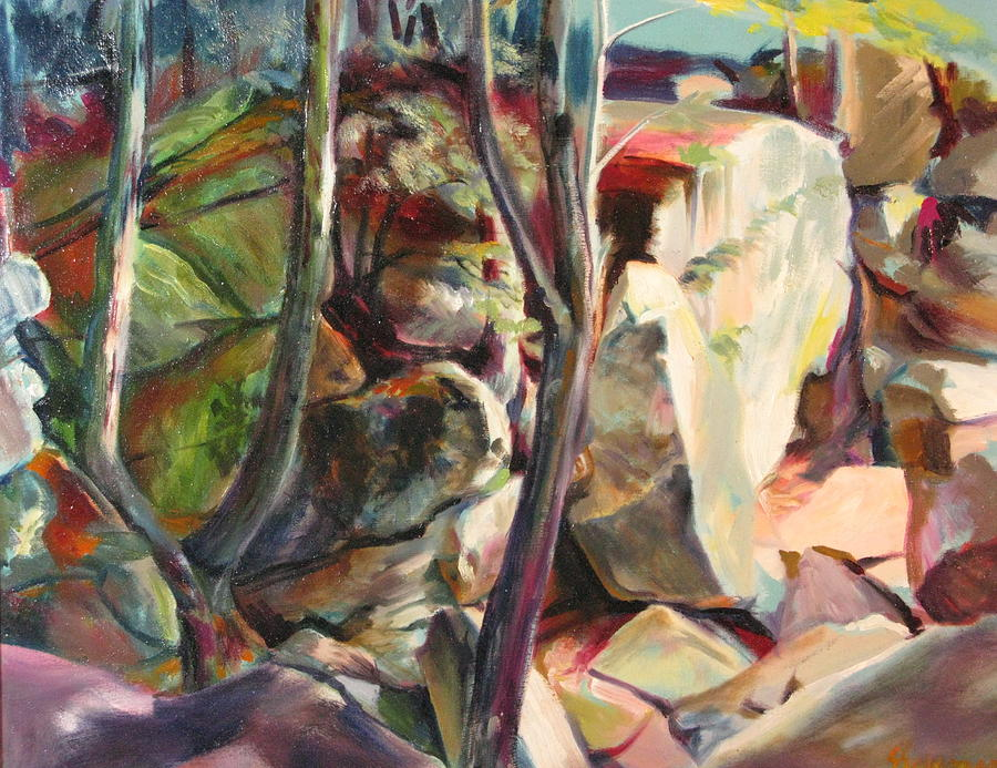 Oil Painting Painting - Purgatory Chasm by Sid Solomon