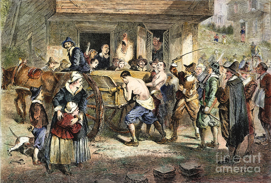 Puritans: Punishment, 1670s Photograph  - Puritans: Punishment, 1670s Fine Art Print