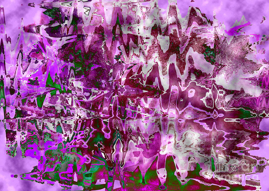Purple Abstract Digital Art  - Purple Abstract Fine Art Print