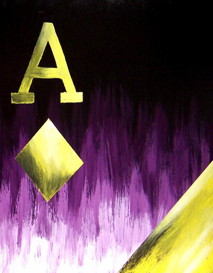 Purple Aces Poker Art2of4 Painting