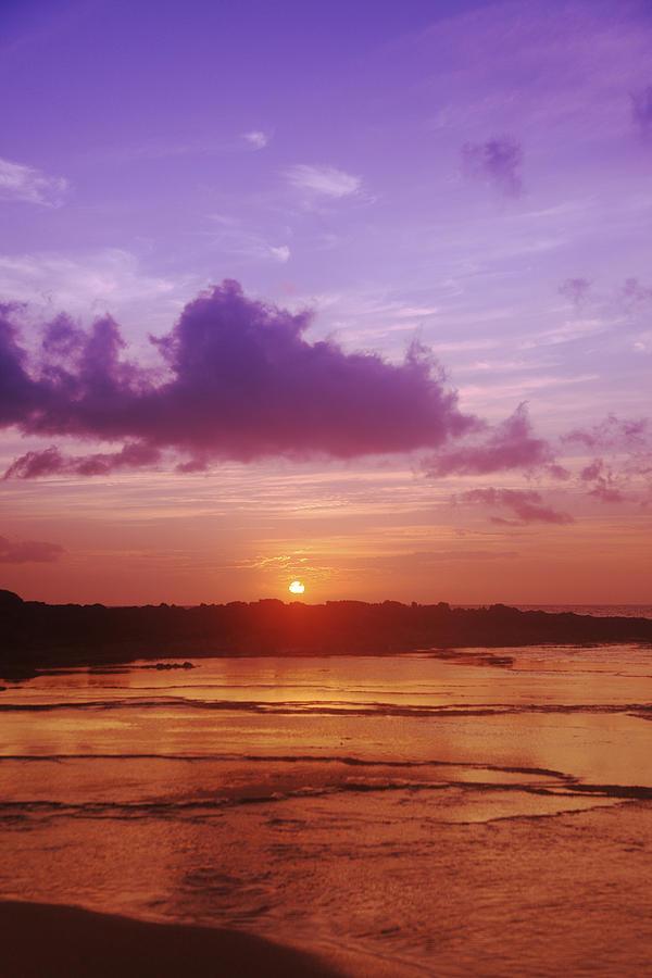 Beauty Photograph - Purple And Orange Sunset by Vince Cavataio - Printscapes