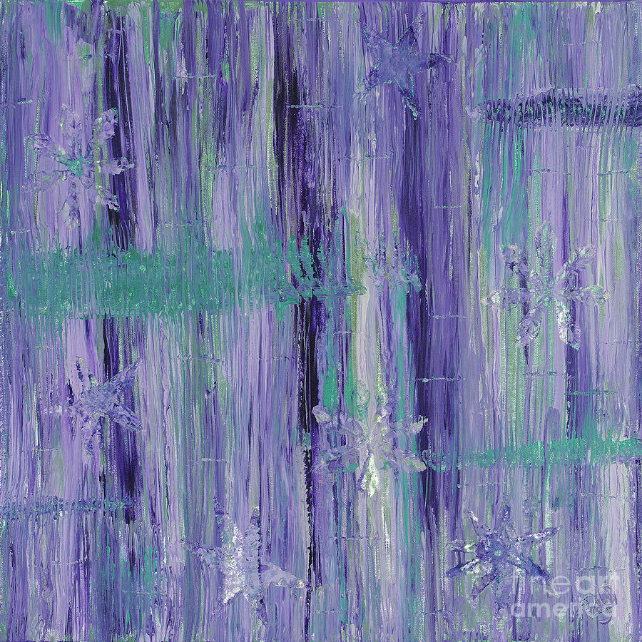 Purple And Teal  Painting  - Purple And Teal  Fine Art Print