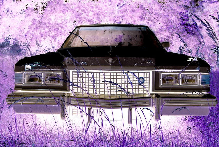 Purple Cadillac Photograph