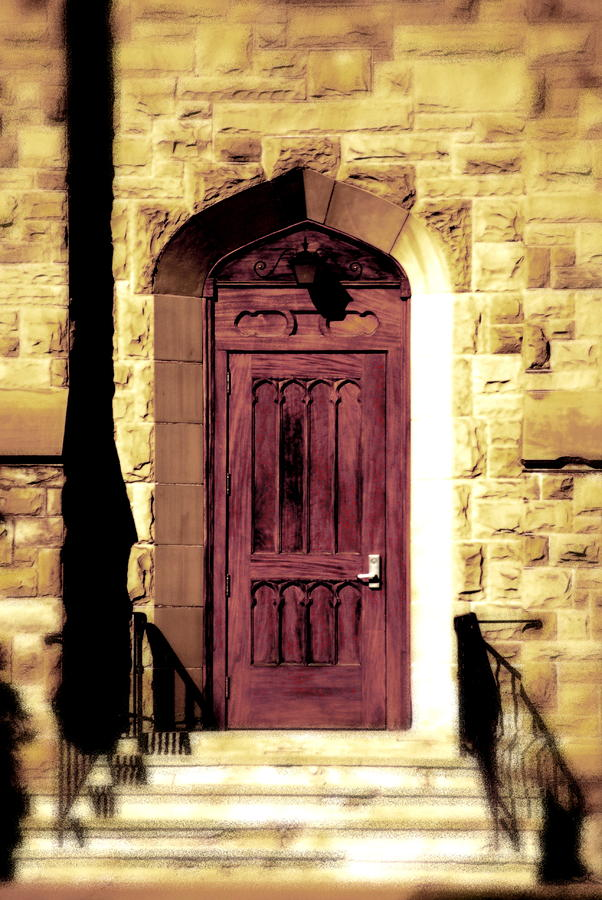 Purple Door Photograph  - Purple Door Fine Art Print
