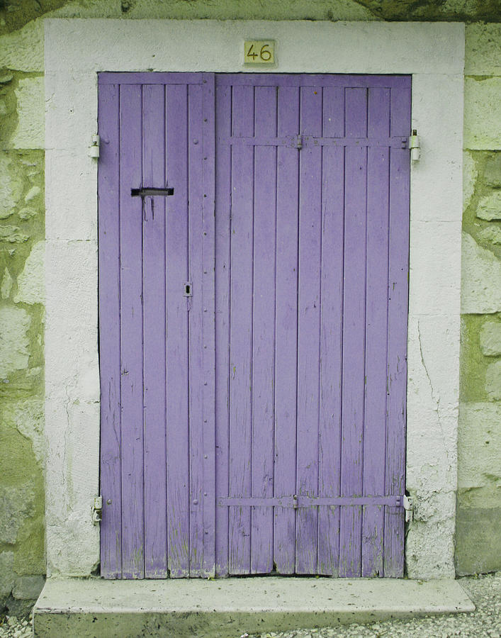 Purple Door Number 46 Photograph  - Purple Door Number 46 Fine Art Print