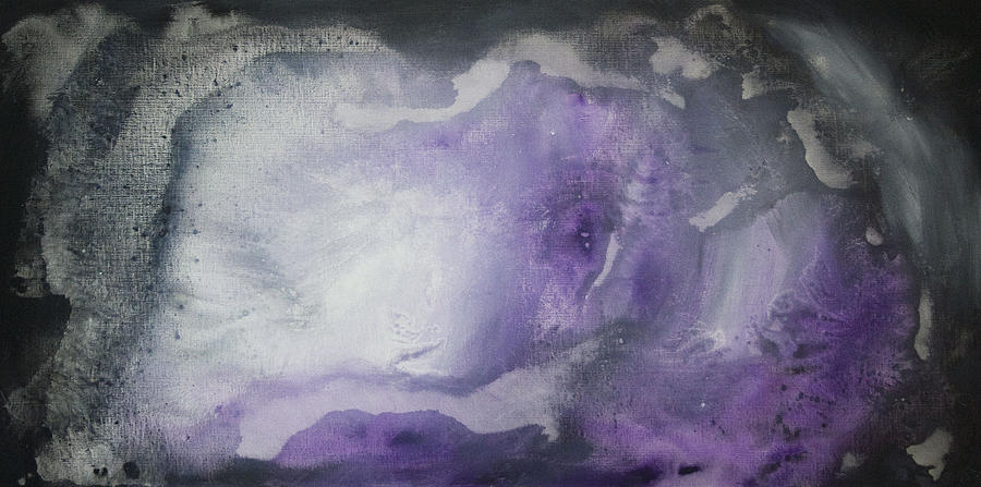 Purple Explosion By Madart Painting  - Purple Explosion By Madart Fine Art Print