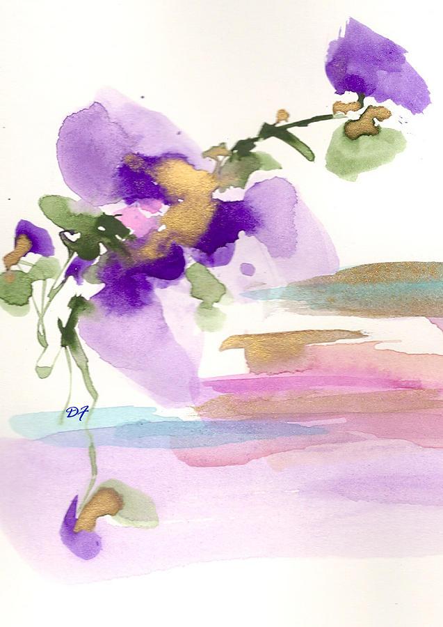 Purple Drawing - Purple Flower by Darlene Flood