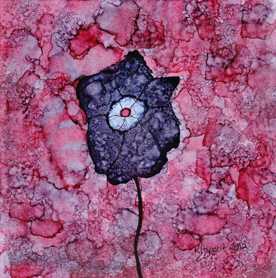 Purple Flower Splash Painting