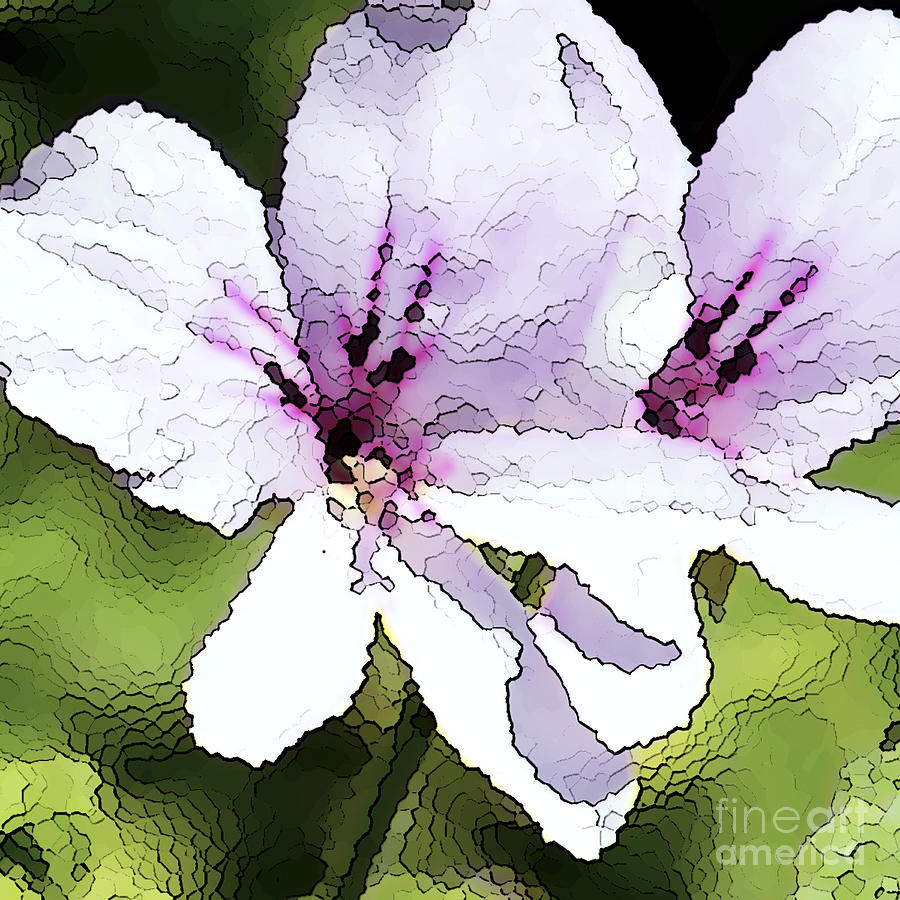 Purple Geranium Painting