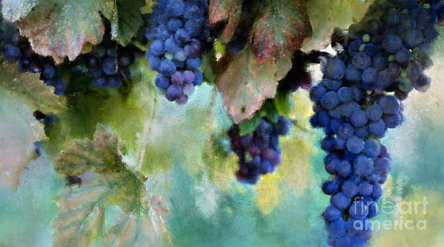 Purple Grapes Digital Art  - Purple Grapes Fine Art Print