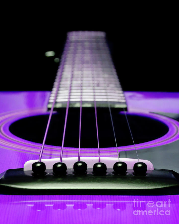 Purple Guitar 15 Photograph