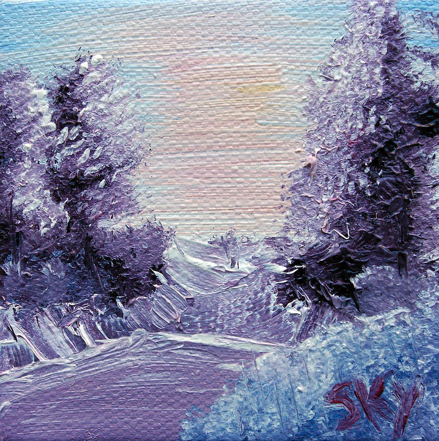 Purple Majesty Landscape Painting