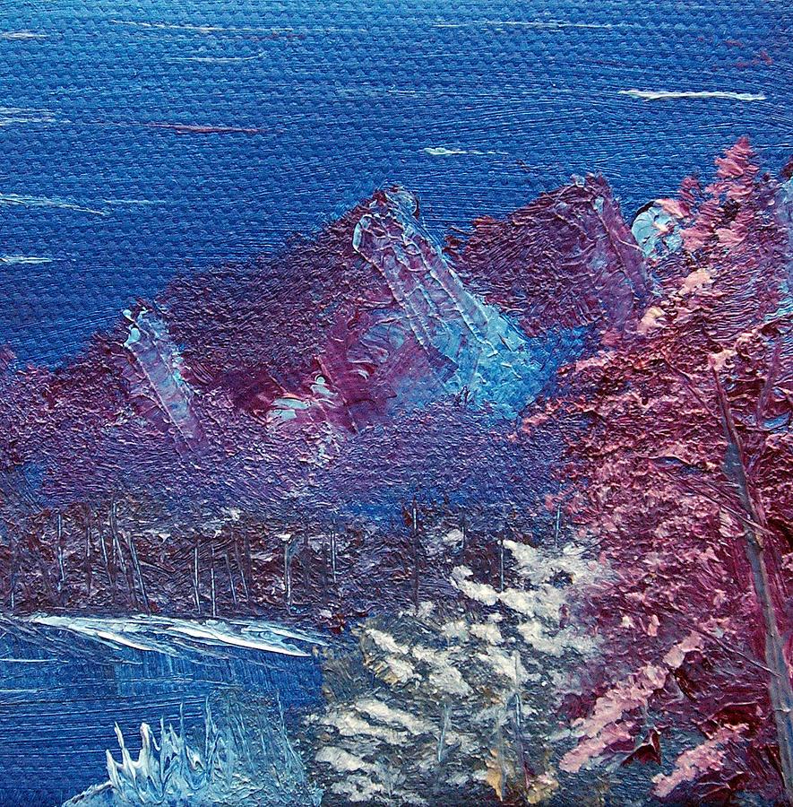 Purple Mountain Landscape Painting