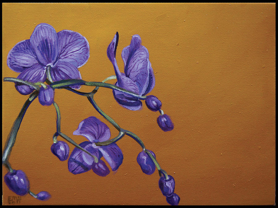 Purple Orchids Painting