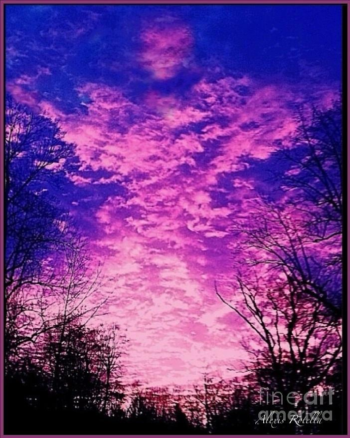 Purple Sky Digital Art  - Purple Sky Fine Art Print