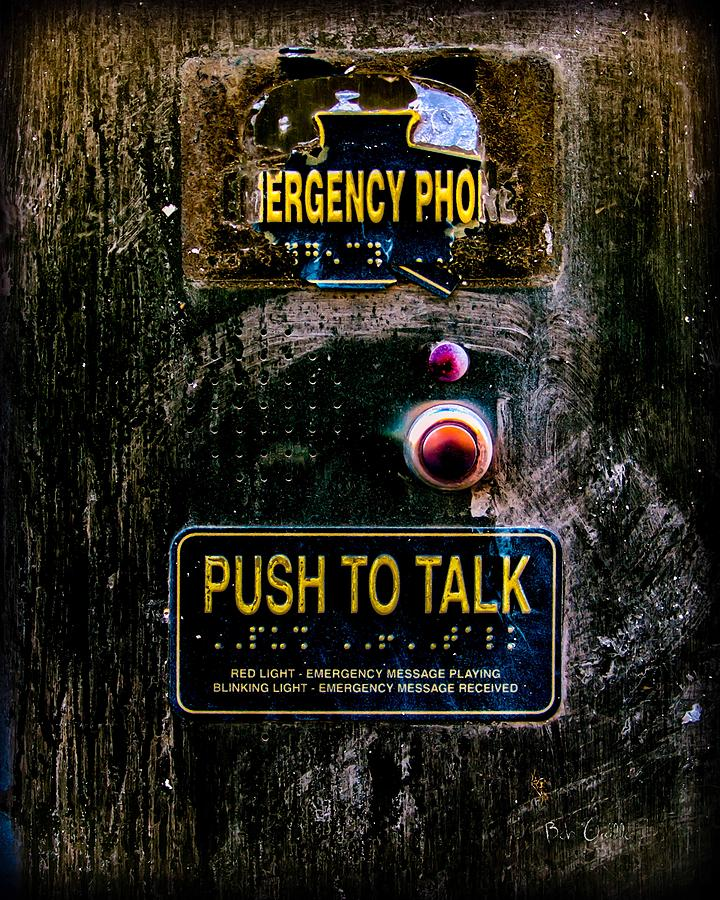 Push To Talk Photograph  - Push To Talk Fine Art Print