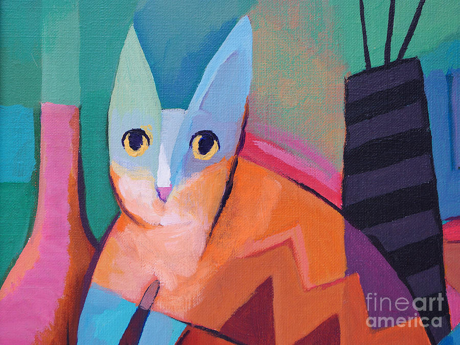 Pussycat Painting  - Pussycat Fine Art Print