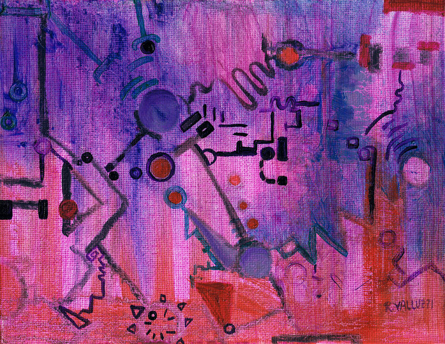 Puzzle In Purple Painting