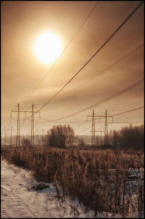 Pylons Photograph - Pylons by Mark Britten