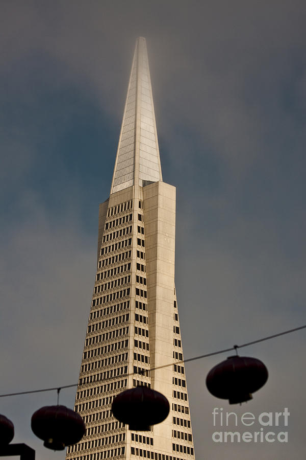 Pyramid Building San Francisco With Incoming Fog Photograph  - Pyramid Building San Francisco With Incoming Fog Fine Art Print