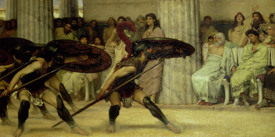 Pyrrhic Dance Painting