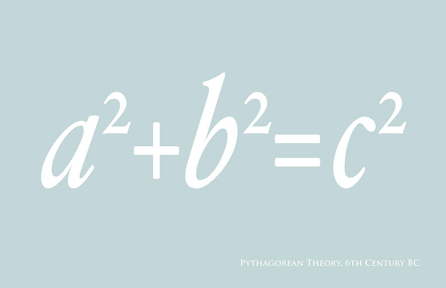 Pythagoras Maths Equation Digital Art