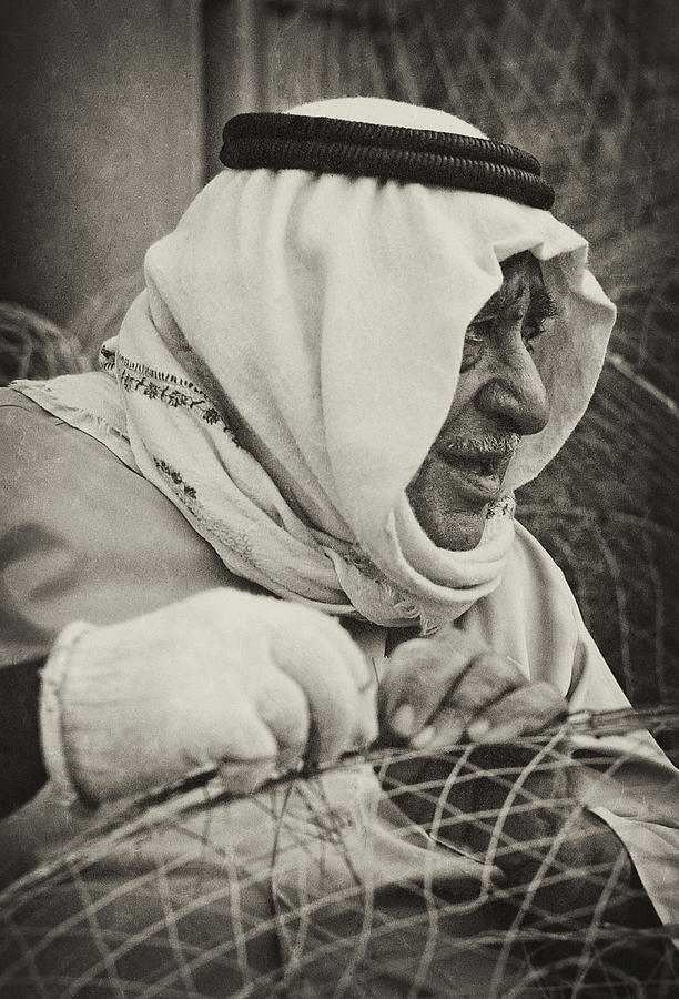 Qatari Fish-trap Maker Photograph  - Qatari Fish-trap Maker Fine Art Print