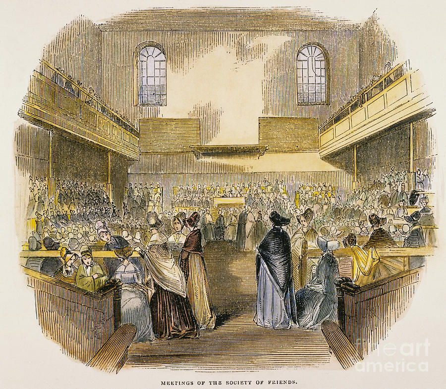 Quaker Meeting, 1843 Photograph
