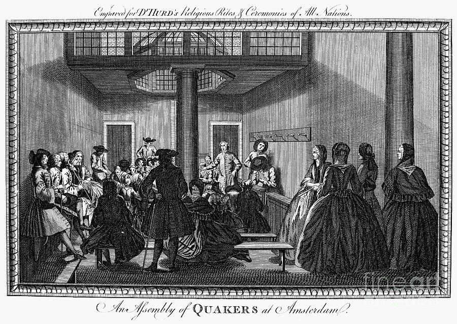 Quaker Meeting, C1790 Photograph