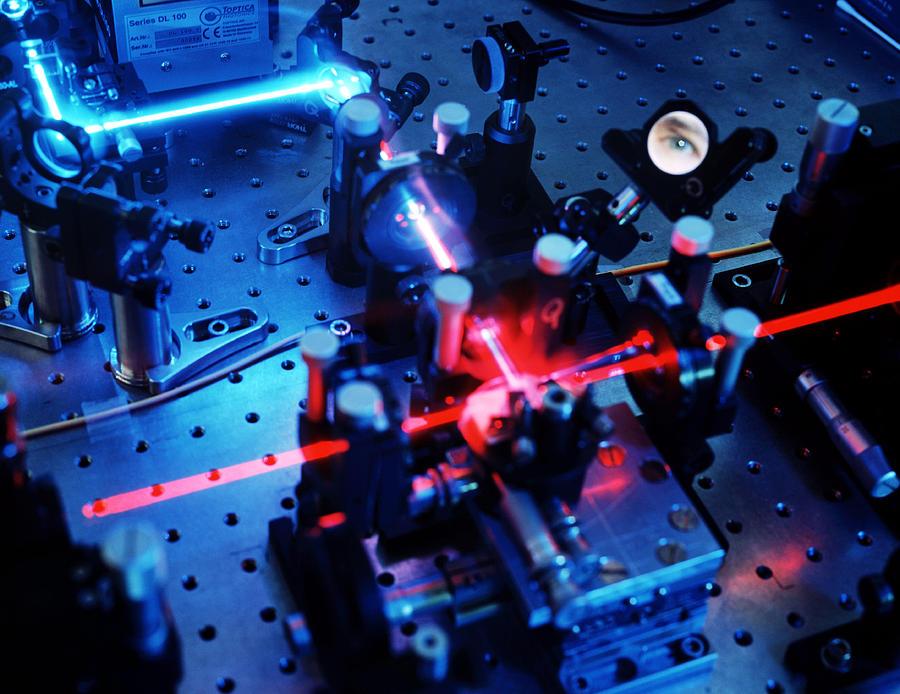 Quantum Cryptography Equipment Photograph