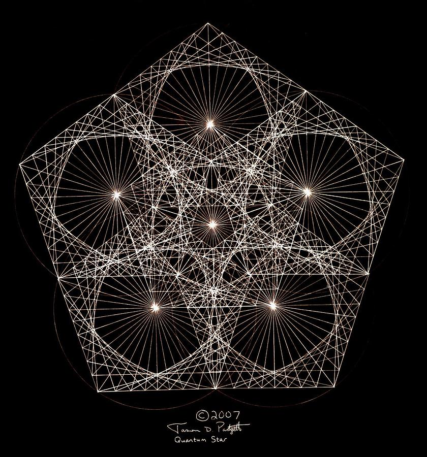 Quantum Star II Drawing  - Quantum Star II Fine Art Print