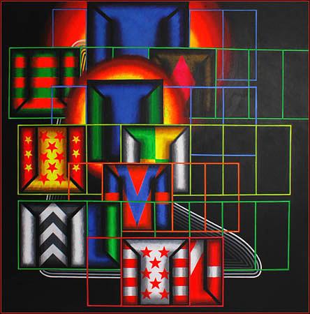 Quazar Painting - Quazar by Mark Howard Jones