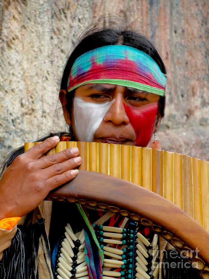 Quechuan Pan Flute Player Photograph