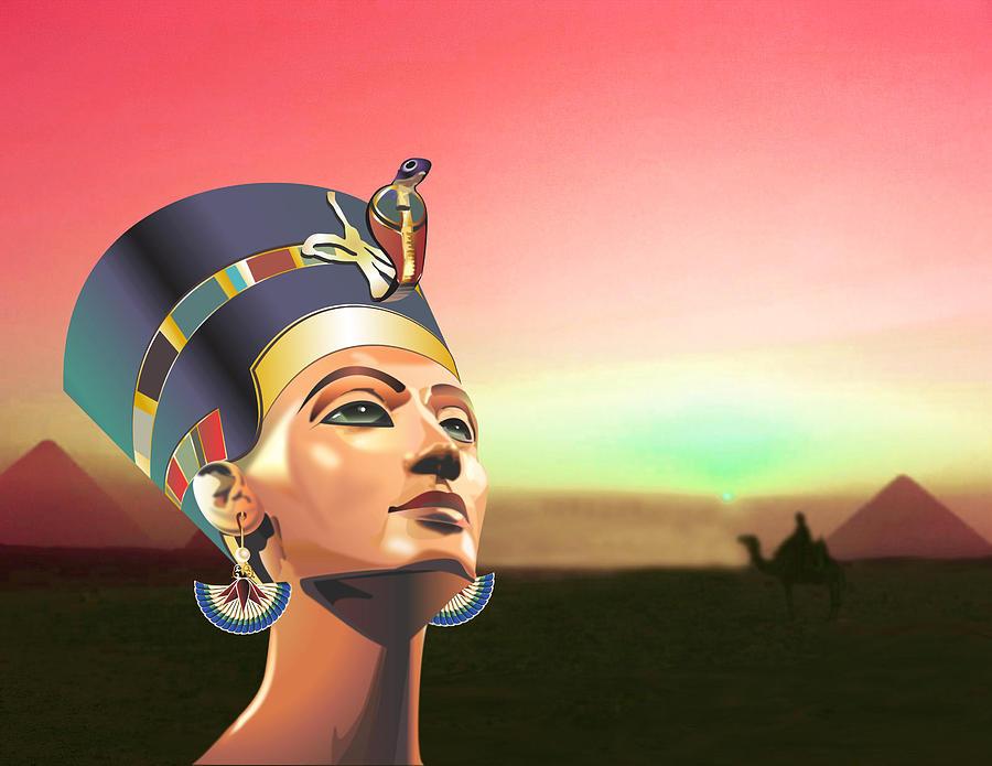 Queen Nefertiti Digital Art by Debbie McIntyre