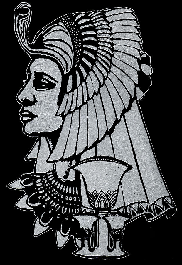 Queen Nefertiti Glass Art