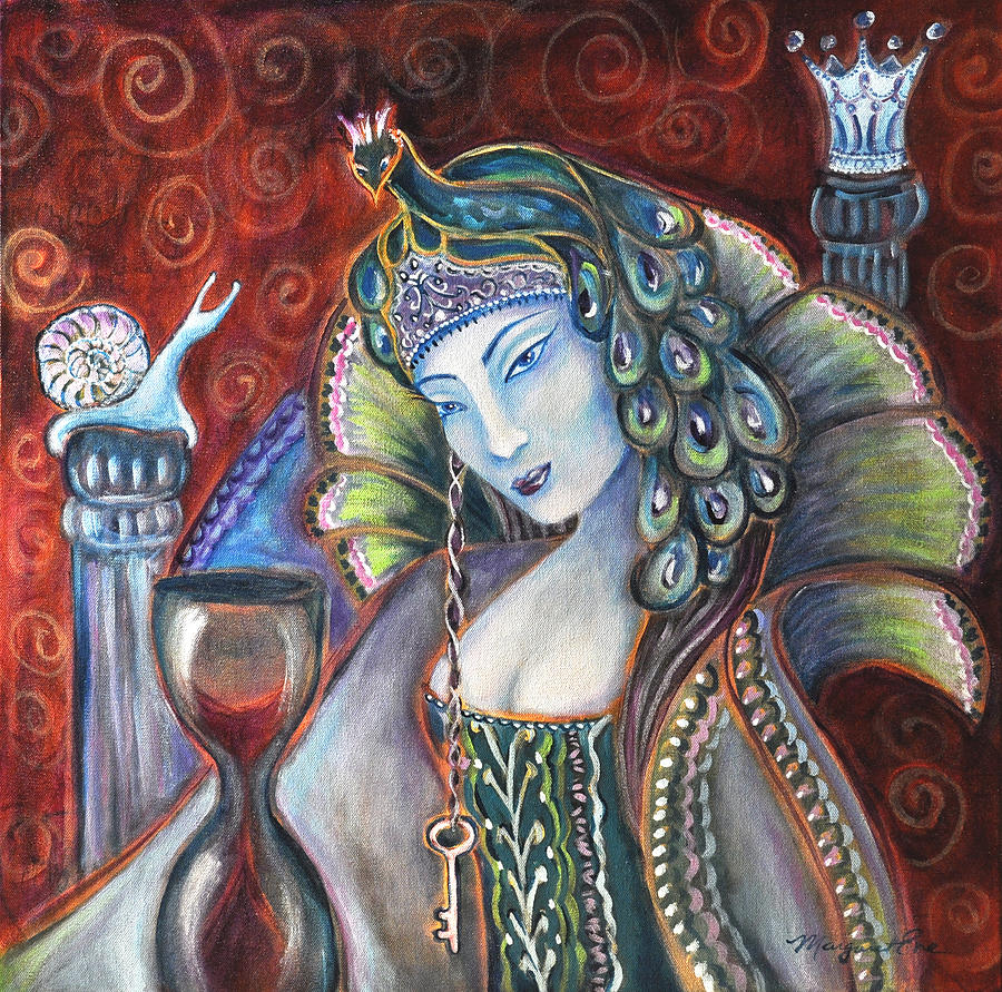 Queen Painting - Queen Of Her Own Heart by Margaret Eve