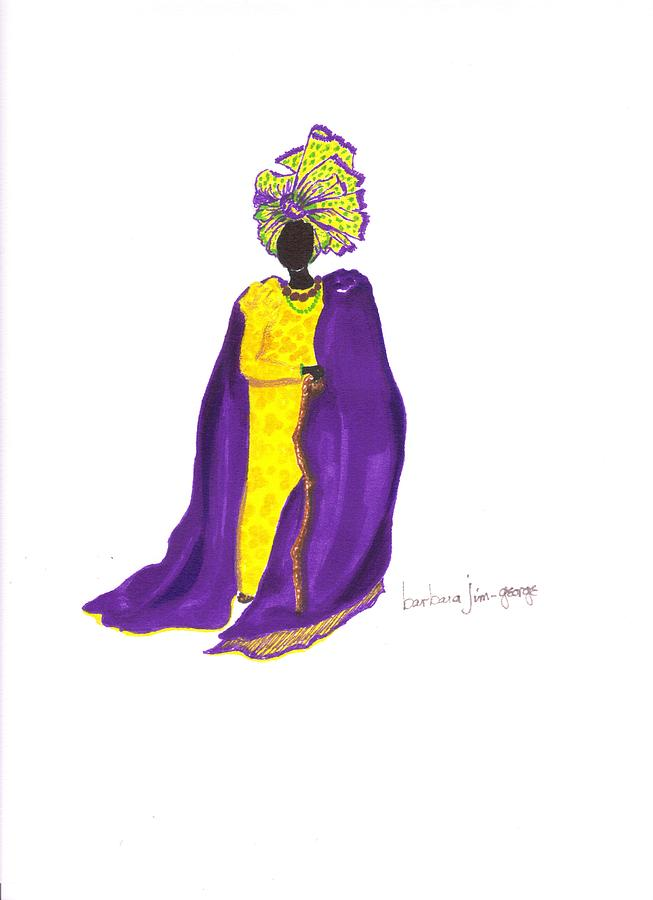 Queen Of Odudwah Painting  - Queen Of Odudwah Fine Art Print