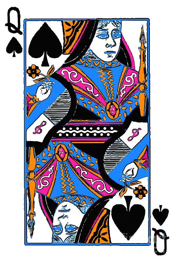 Queen Of Spades - V3 Photograph  - Queen Of Spades - V3 Fine Art Print