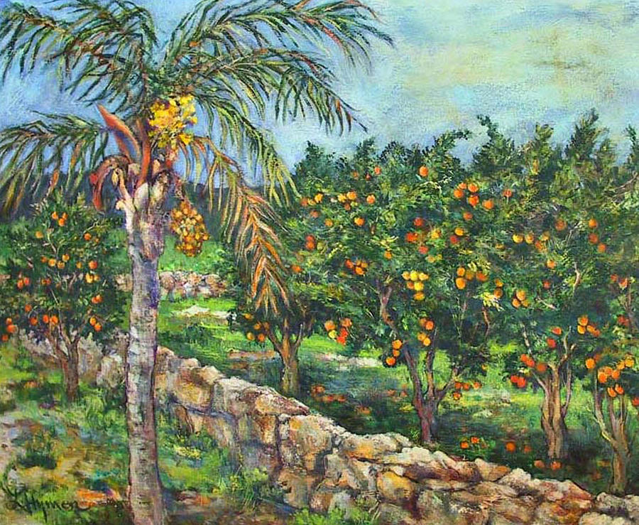 Queen Palm And Oranges Painting