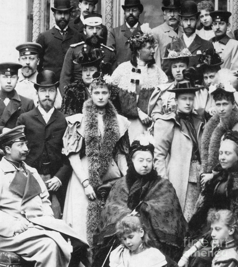 Queen Victoria And Descendants Photograph  - Queen Victoria And Descendants Fine Art Print