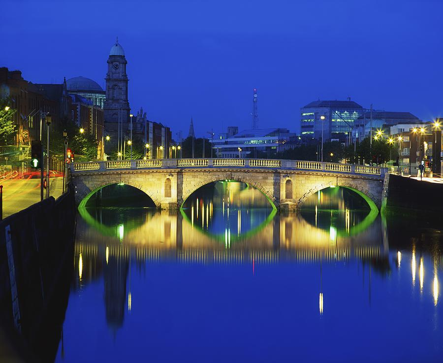 Queens Street Bridge, River Liffey Photograph  - Queens Street Bridge, River Liffey Fine Art Print