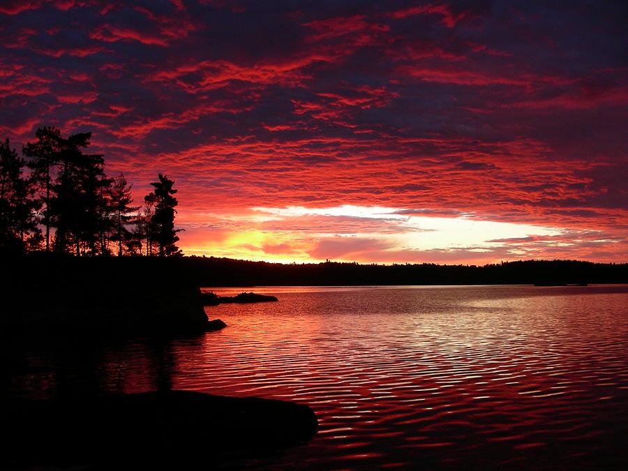Quetico Sun Rise Photograph